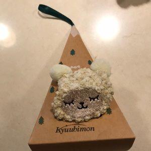 Lamb sheep fuzzy socks with ornament box